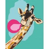 """Картина по номерам """"Cool giraffe""""  N0001363"""