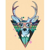 "Картина по номерам ""Cool deer""  N0001364"