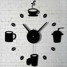 Настенные часы с 3D-эффектом (кофе)