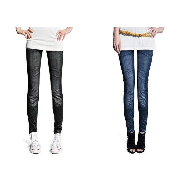 Леггинсы джеггинсы с джинсовым дизайном